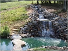 backyards splendid top 17 brick rock garden waterfall designs