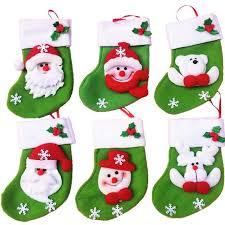 gift bags christmas 6 pcs mini christmas socks candy bag christmas gift bag