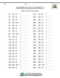 division math problems printable division worksheets 3rd grade