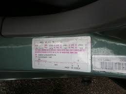 kia paint code location