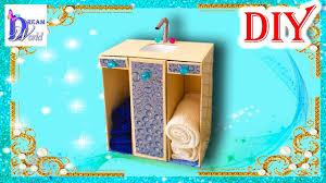 how to make a doll bathroom sink easy diy doll crafts no