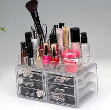 cosmetic storage box acrylic makeup organizer with drawers