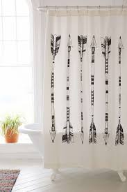 4040 locust black white arrows shower curtain arrow urban
