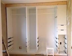 built in pax wardrobe and nightstand ikea hackers ikea hackers