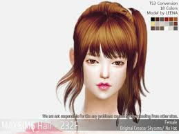 the sims 4 cc hair ponytail spring4sims sweet ponytail hairstyle for the sims 4