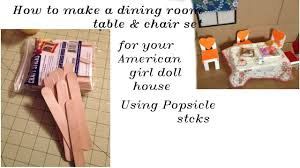 Making A Dining Room Table by How To Make Table And Chair Dining Room Set Using Jumbo Popsicle