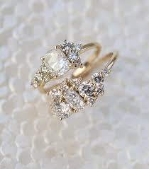 custom cluster v shaped ring bario neal home bario neal composition engagement and diamond