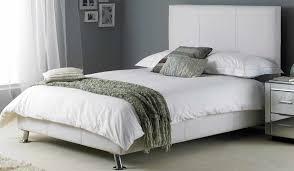 White Leather Bed Frame King White Leather Bed High Headboard Inside Hyder Milan 5ft Kingsize