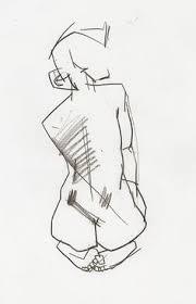 print of my original art original sketch ink figure 2 fine art