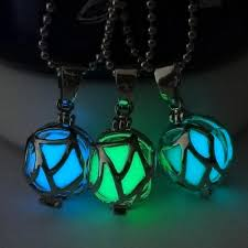 2015 new glow in the dark necklace halloween christmas day glowing