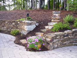 simple your garden landscape timber retaining wall ideas together