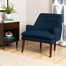Overstock Armchairs Taylor Mid Century Navy Blue Tufted Accent Chair Free Shipping