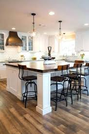 kitchen island with stools white kitchen with large square white