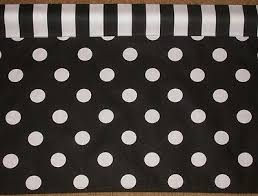 Black And White Polka Dot Valance Polka Dots Are All The Rage Curtains Valances Collection On Ebay
