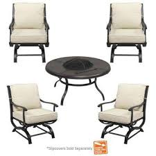 Patio Furniture Feet Inserts by Hampton Bay Fire Pit Sets Outdoor Lounge Furniture The Home