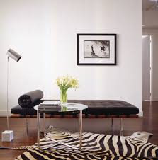 zebra decor living room modern with modern side table zebra rug
