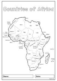 africa map study 55 countries study worksheets with maps and flags for each country