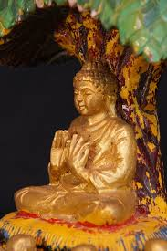 buddha the bodhi tree from burma made from wood
