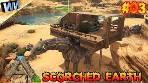 ark scorched earth ep03 clay u0026 caravan build gameplay youtube