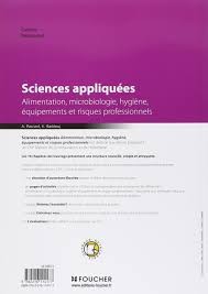 cap cuisine examen sciences appliquées cap amazon fr antoinette paccard khadija