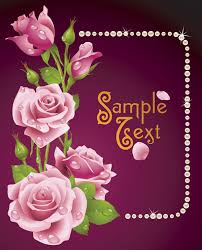 roses greeting cards vector free vector 4vector