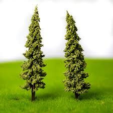 high quality 100pcs lot 4 3cm abs plastic mini scale model trees for