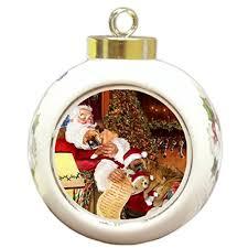 boxer dog christmas ornaments christmas mosaic