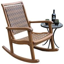 Jcpenney Outdoor Furniture by Outdoor Interiors Resin Wicker And Eucalyptus Rocker Chair Jcpenney