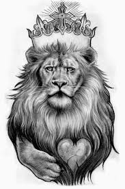 lion with crown drawing crowned lion tattoo drawing illustrative