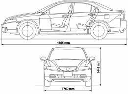 2007 honda accord dimensions the blueprints com blueprints cars honda honda accord 2005