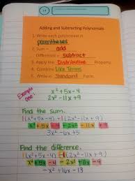 math u003d love adding and subtracting polynomials notes