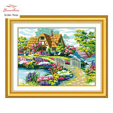 aliexpress buy golden panno needlework embroidery diy