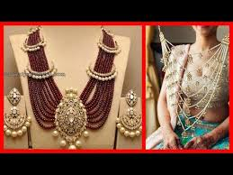 luxury gold necklace images Latest collection of rani haar in 1 gram gold chandra haar jpg