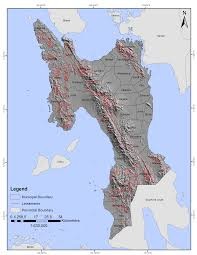 Fault Line Map Landslide Hazard Mapping Of Leyte Province Philippines Using