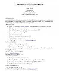 entry level resumes exles entry level resume objective exles resume resume