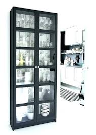 Ikea White Bookcase With Glass Doors Glass Bookcase Ikea Billy Bookcases From With Height Extensions