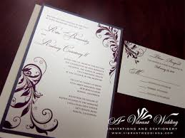 popular compilation of purple and ivory wedding invitations for