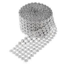 bling ribbon 10 yards multi use diamond mesh wrap roll rhinestone