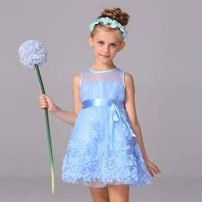 wedding dress korean 720p 2017 new style floral dress for kid girl bow ribbons gown