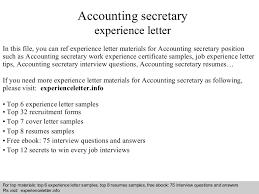 accountingsecretaryexperienceletter 140822042745 phpapp02 thumbnail 4 jpg cb u003d1408681688