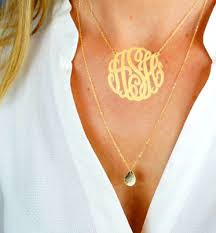 monogrammed pendant nameplate necklace personalized nameplate jewelry in gold silver