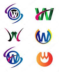 letter w logo icons set vector graphic design u2014 stock vector