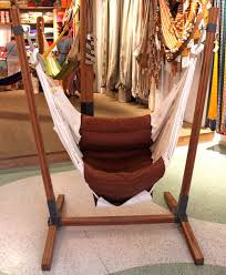 strong hammock chair stand made of compressed bamboo