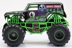 original grave digger monster truck amazon com new bright f f monster jam grave digger rc car 1 24