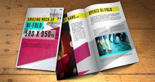 two fold brochure template psd psd bifold brochure mock up template psd mock up templates pixeden
