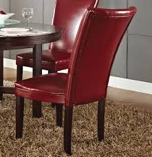 steve silver hartford 5 piece round dining room set w red chairs
