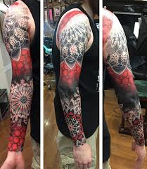 cool red full sleeve tattoos designs for men pick your pic