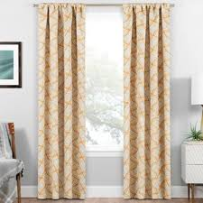 ikat yellow u0026 gold curtains u0026 drapes you u0027ll love wayfair