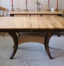 Maple Dining Room Sets Amish Built Solid Wormy Maple Dining Table Ebth