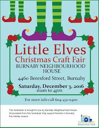 burnaby neighbourhood house christmas craft fair